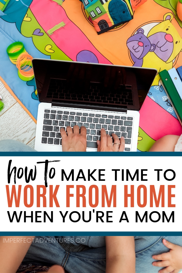 Find out how I make time to work from home even with young kids around. Balancing work and being a mom isn't easy especial when you have babies and toddlers at home, here's what I do to make sure I can get everything done AND be sure they are entertained without staring at a screen all day #workfromhome #workingfromhome #mombalance #mompreneur
