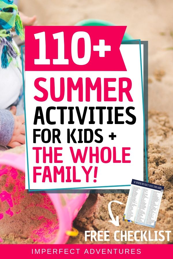 Wow!! Over 100 summer activities for kids that are toddler friendly and fun for the whole family? I didn't think it could get better until I realized most of these are FREE summer activity ideas!! Even better!!! Plus it has a free checklist that my kids love!