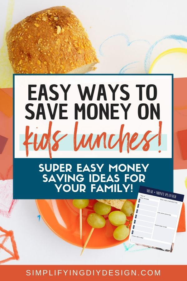 These easy ways to save money on lunch for your kid is AMAZING and not only can I save money on lunch but I can also save money on groceries in general! I love the free meal planning printable too! So cute!